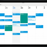 Google Calendar для iPad