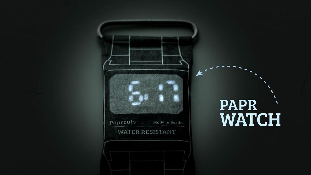 Полиэтиленовые часы Papr Watch
