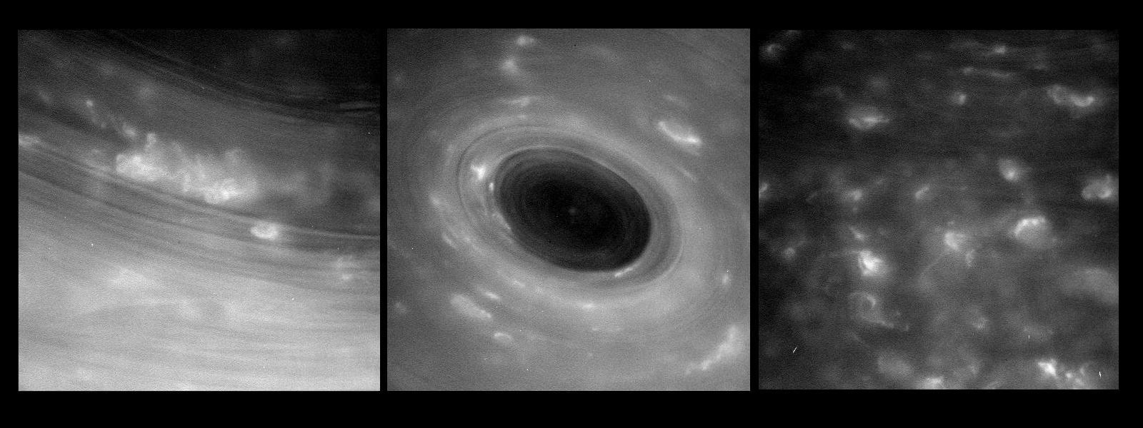 Первые кадры поверхности Сатурна сделанные Cassini