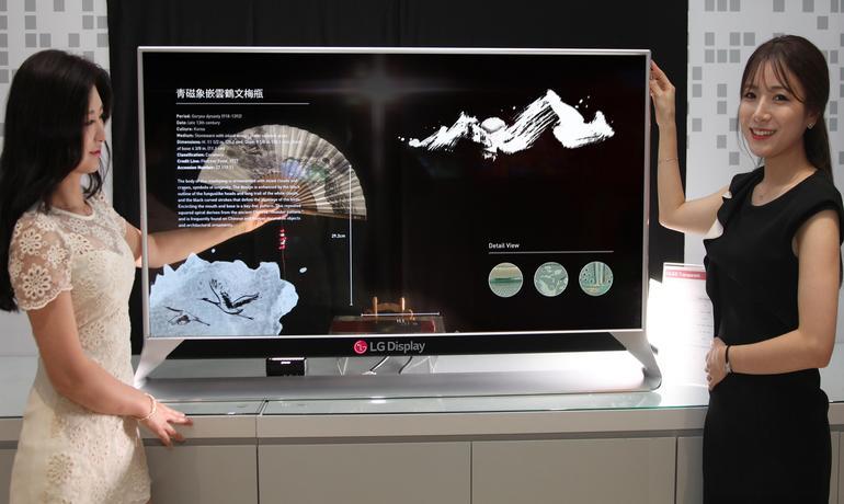 Прозрачный OLED-дисплей LG Display стал первым в мире 77-дюймовым гибким прозрачным экраном