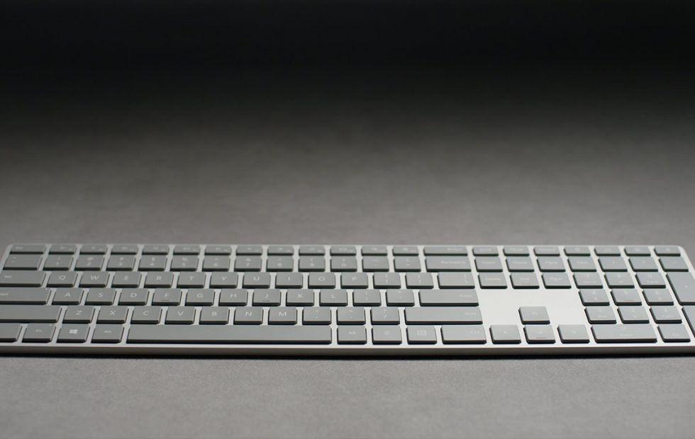 Клавиатур Microsoft Modern Keyboard со встроенным сканеров отпечатков пальцев