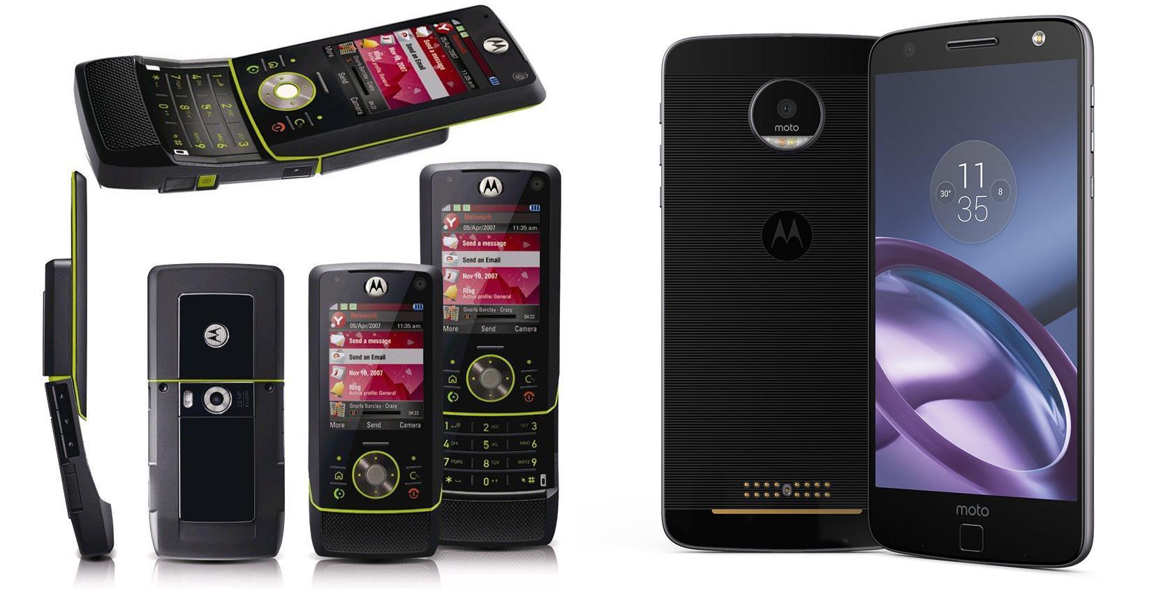 Как изменились за 10 лет Motorola