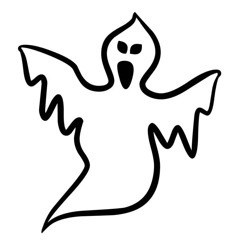 шаблоны привидений на хэллоуин