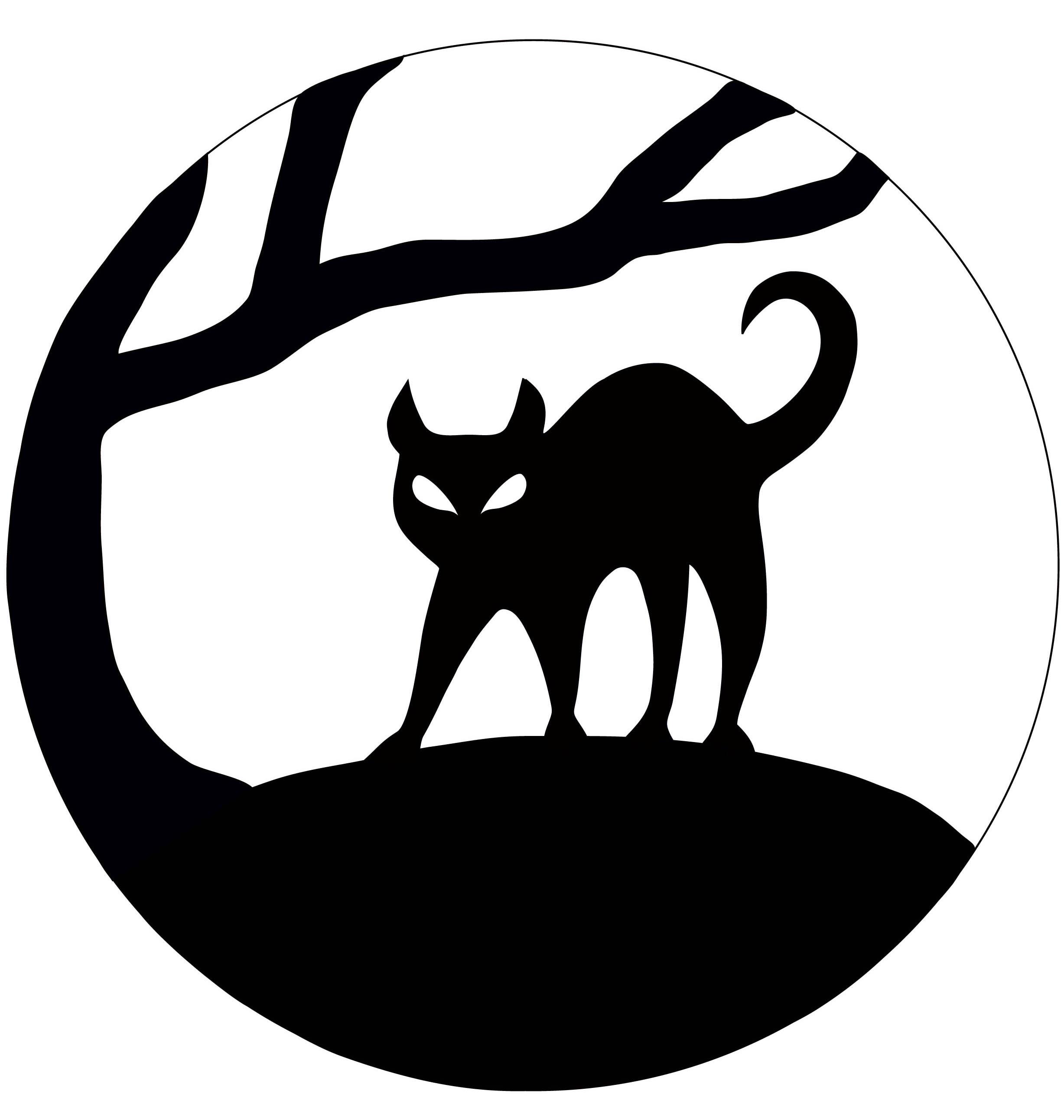 Шаблон кота на Хэллоуин