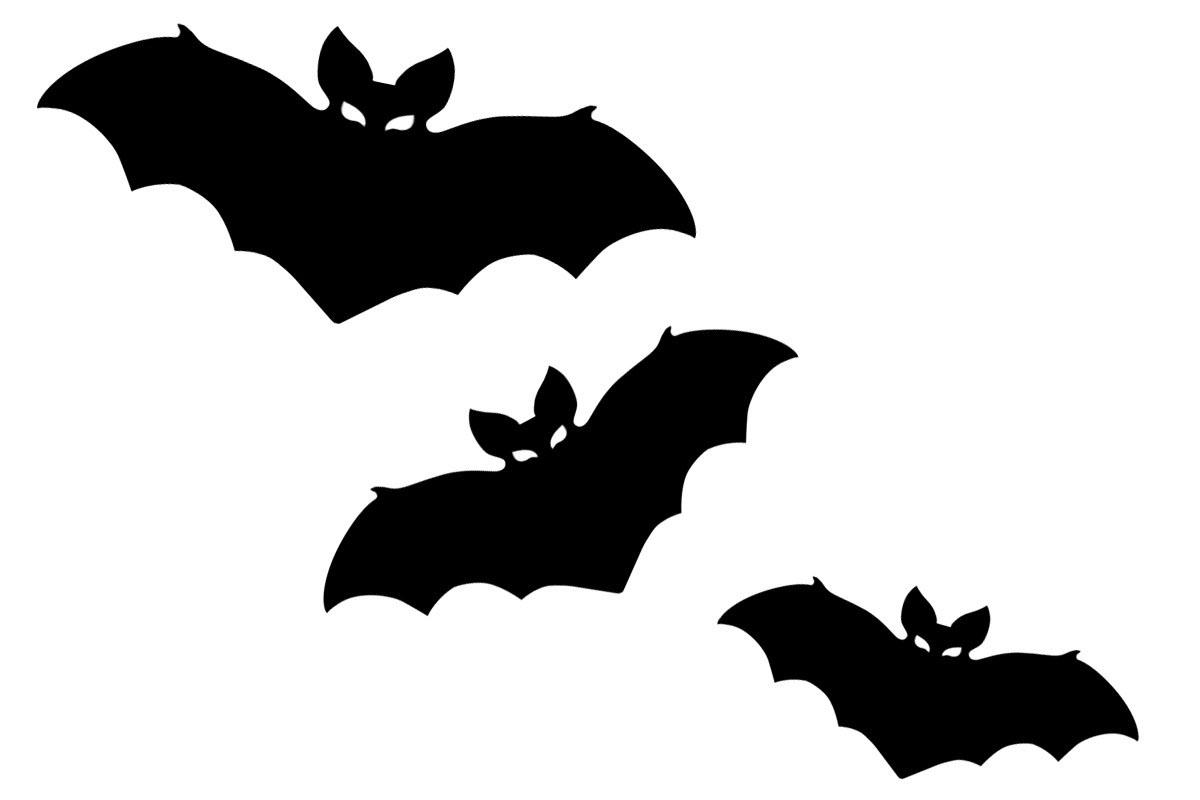 шаблон летучая мышь на хэллоуин