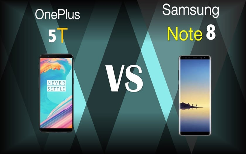 Samsung Galaxy Note 8 vs OnePlus 5T