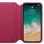 Кожаный чехол Folio для iPhone X