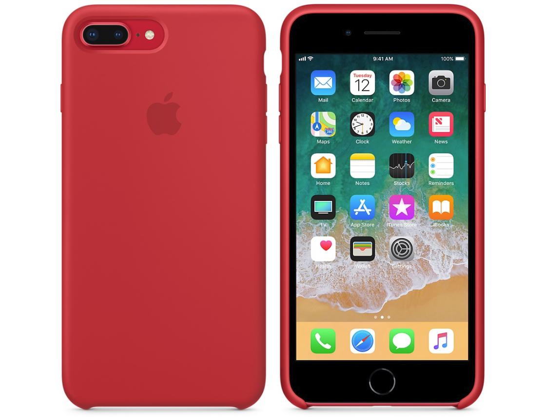 Силиконовый бампер (Product) RED iPhone 8 Plus