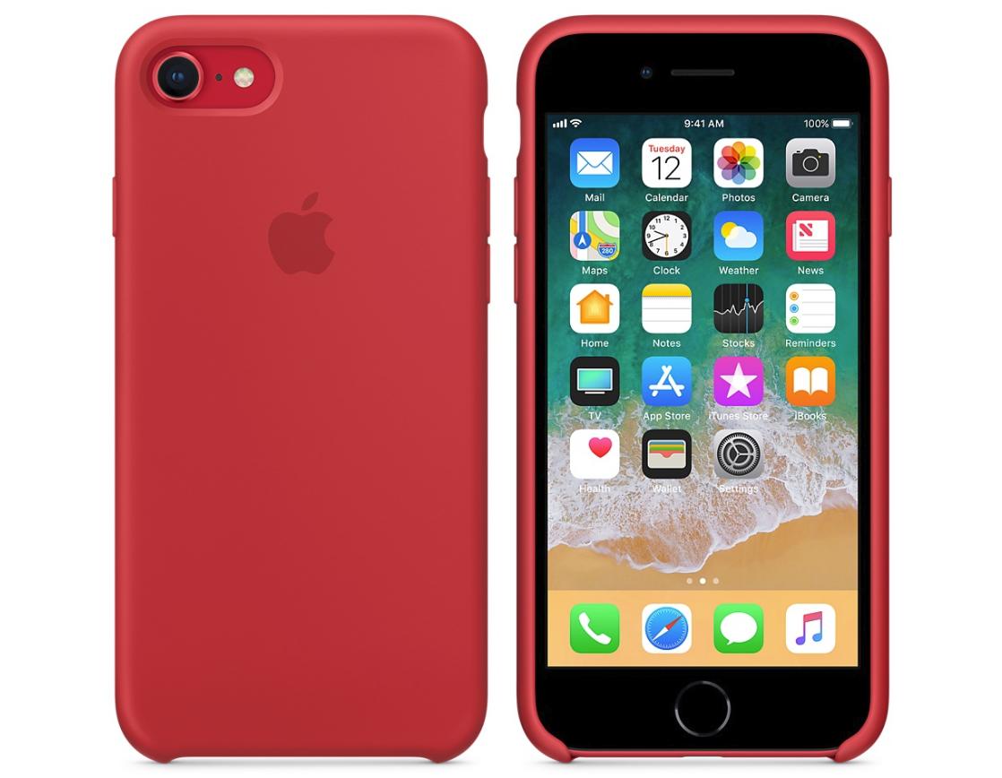 Силиконовый бампер (Product) RED iPhone 8