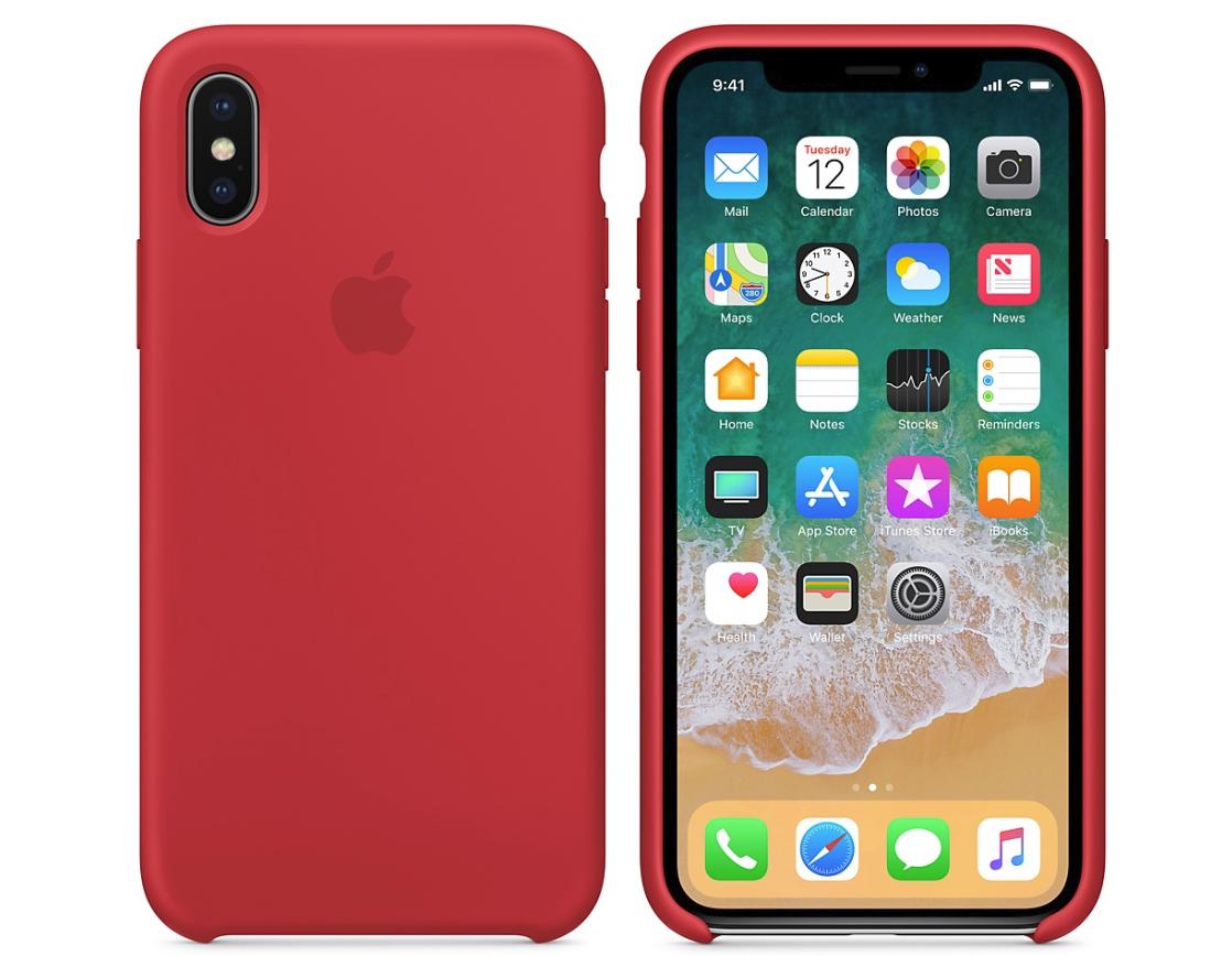 Силиконовый бампер (Product) RED iPhone X