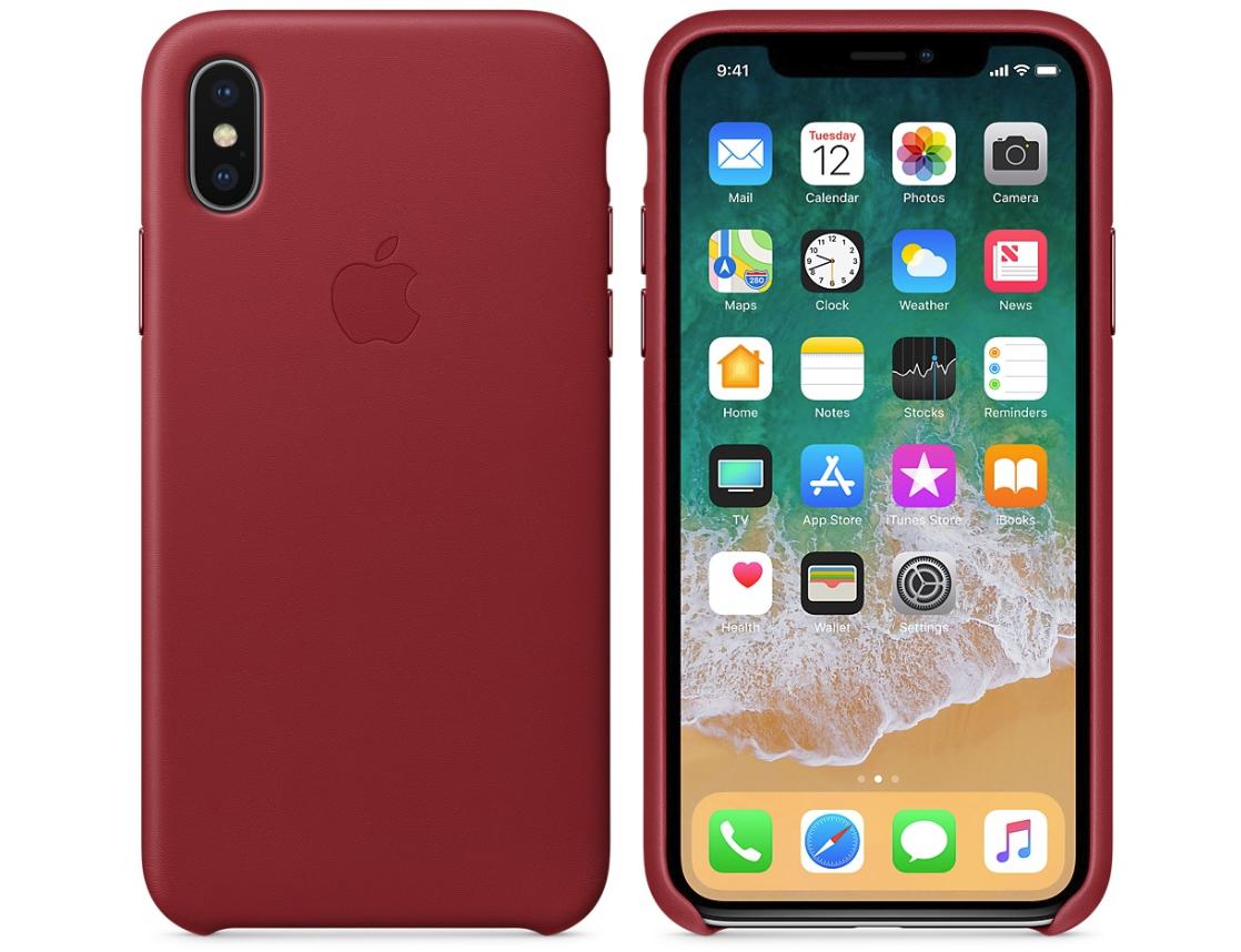 Кожаные чехлы (Product) RED iPhone X