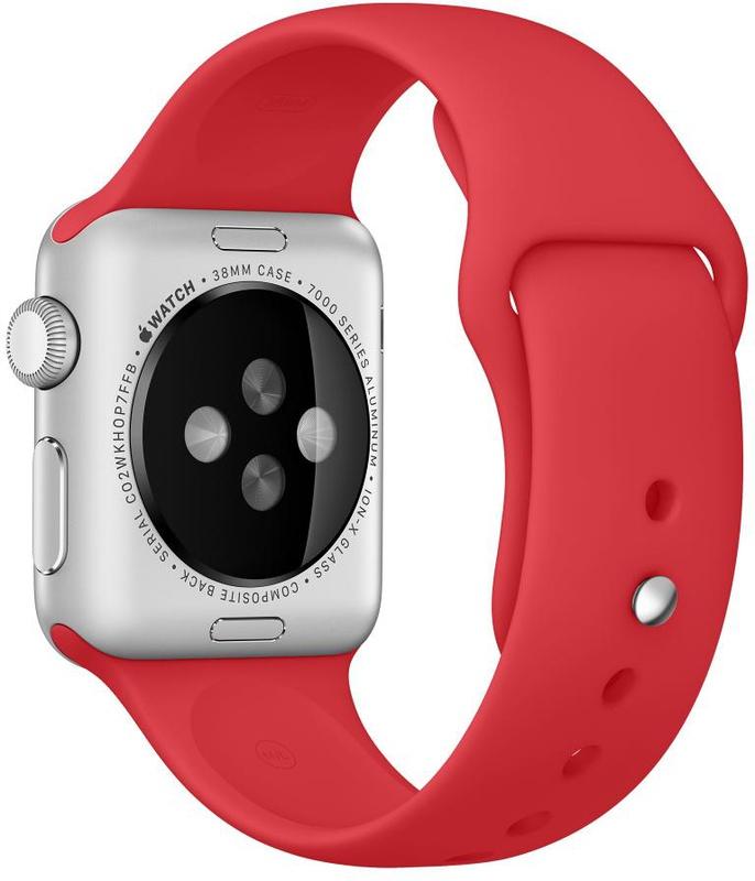 Apple Watch спортивный ремешок (Product) RED