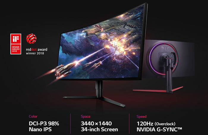 Геймерский монитор LG UltraGear 34GK950G