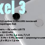характеристики pixel 3