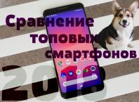 Сравнение топовых смартфонов 2018