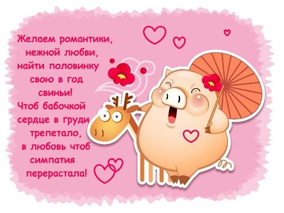 Картинки с поздравлением с Новым Годом Свиньи