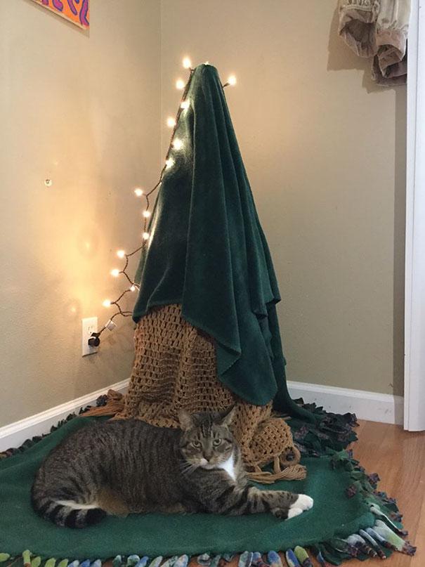елка для кота