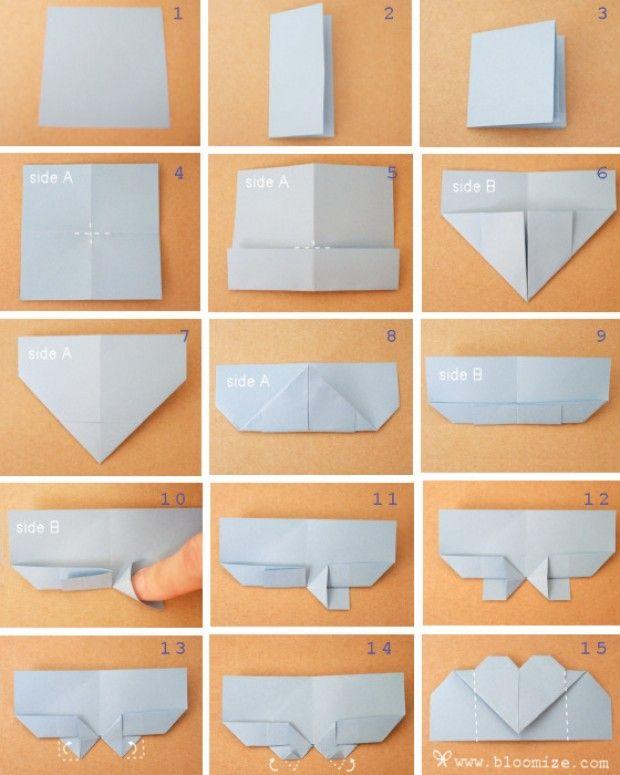 Шаблон валентинки оригами своими руками