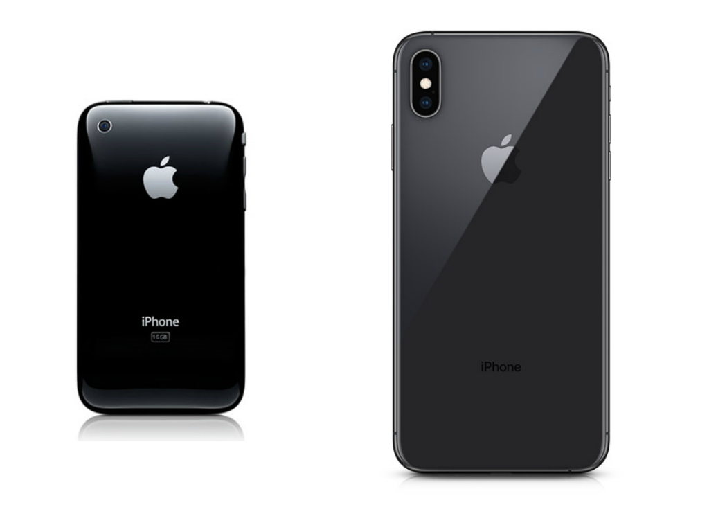 эволюция смартфонов Apple
