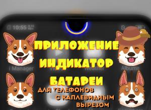приложение индикатор батареи Notch Pie