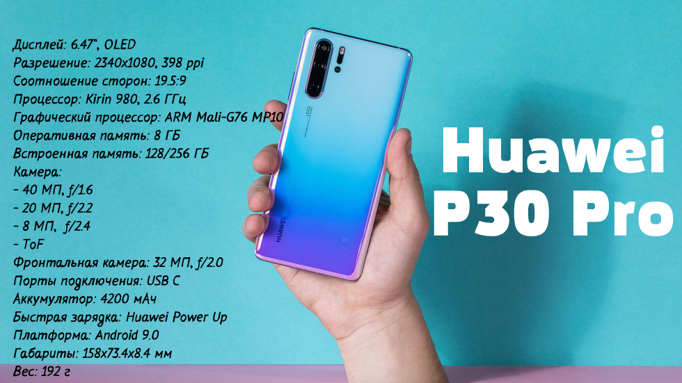 характеристики Huawei P30 Pro