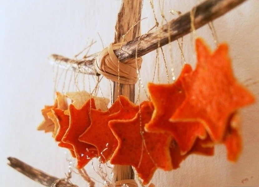 Украшения из мандариновых корок