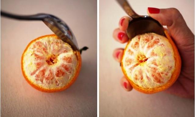 как сделать свеч из кожуры мандарина