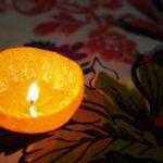 свеча из кожуры мандарина