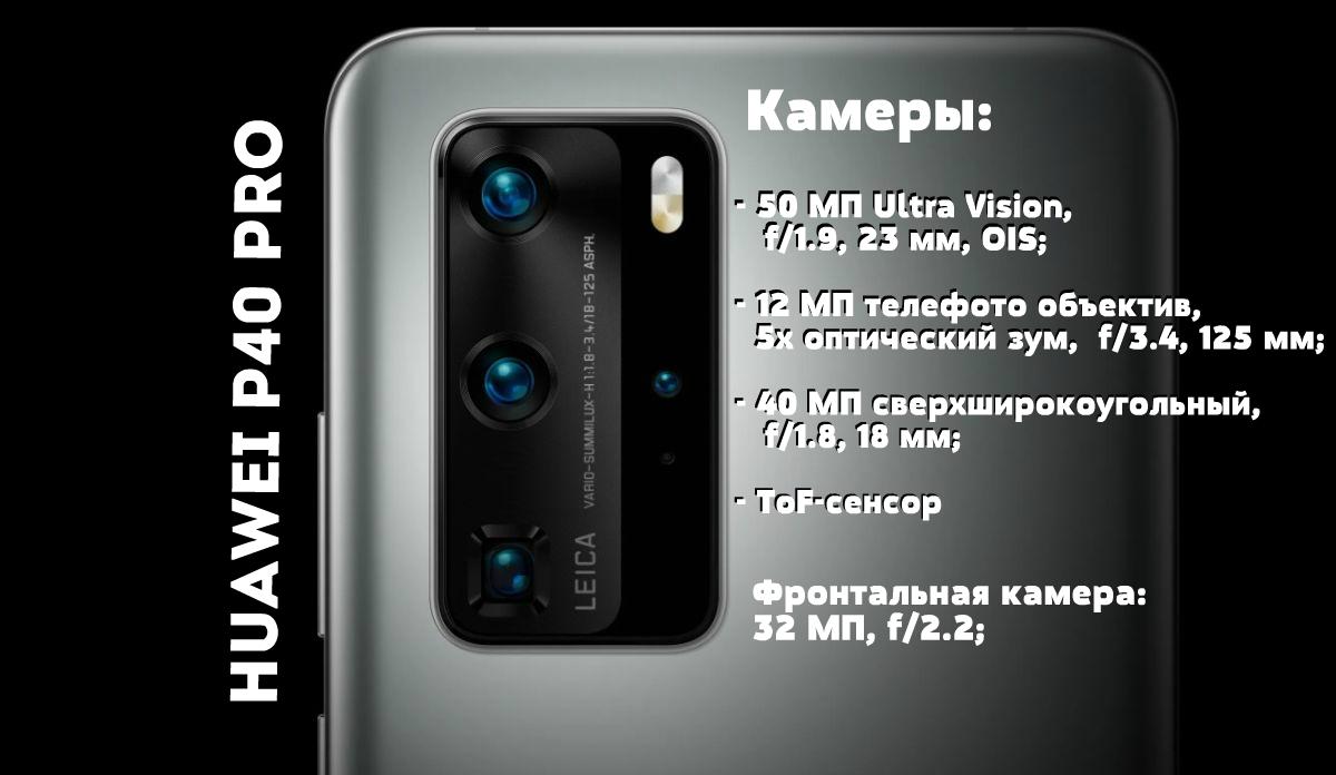 характеристики камеры Huawei P40 Pro