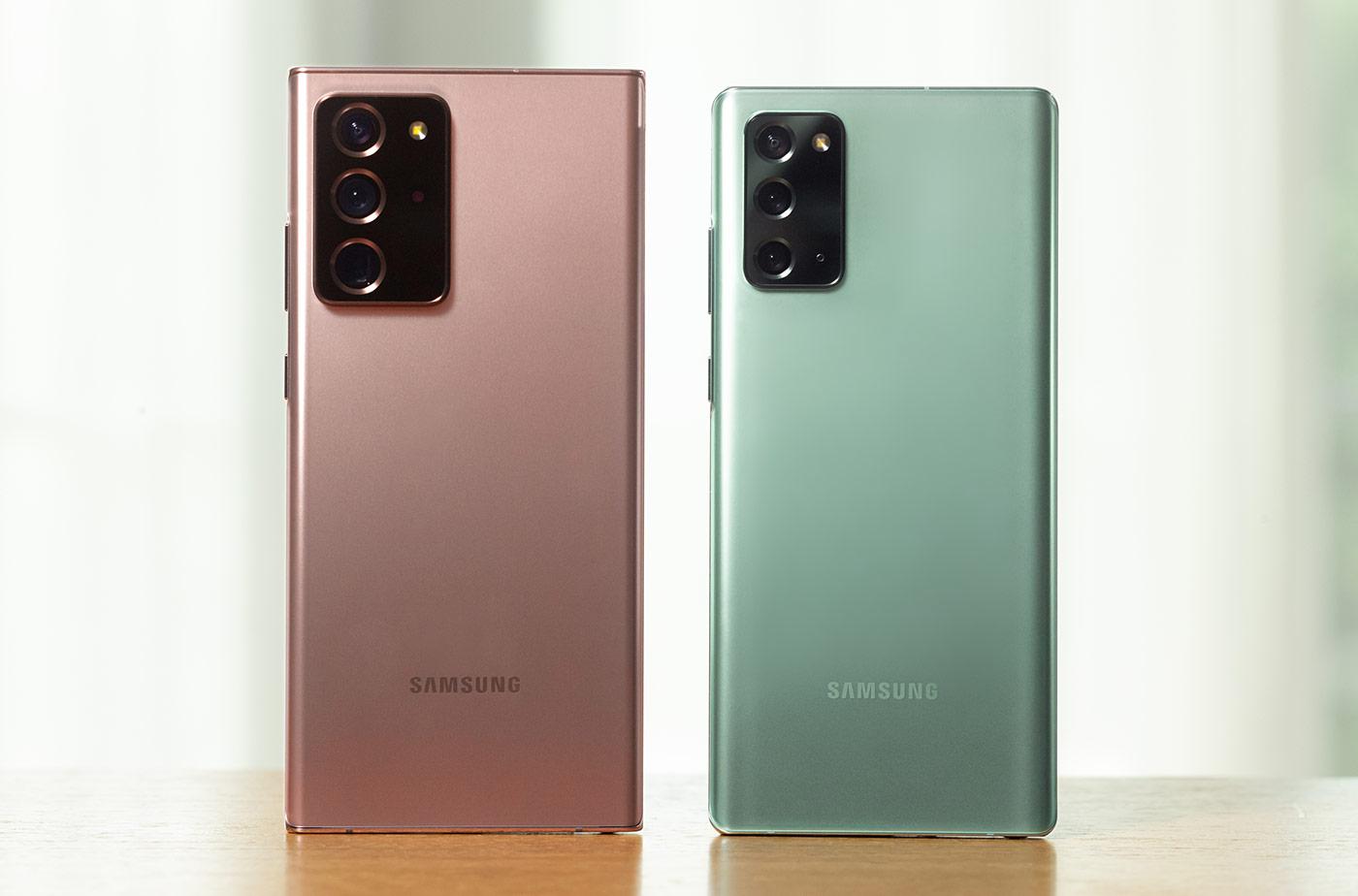 Samsung Galaxy Note 20 Ultra и Samsung Galaxy Note 20