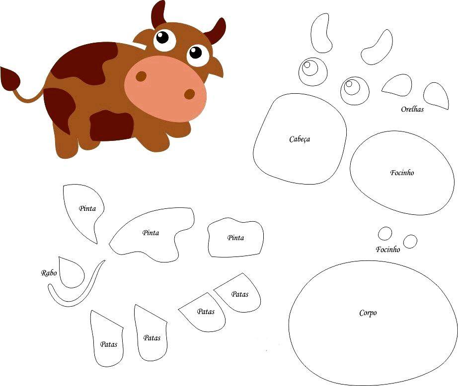 шьем быка из фетра