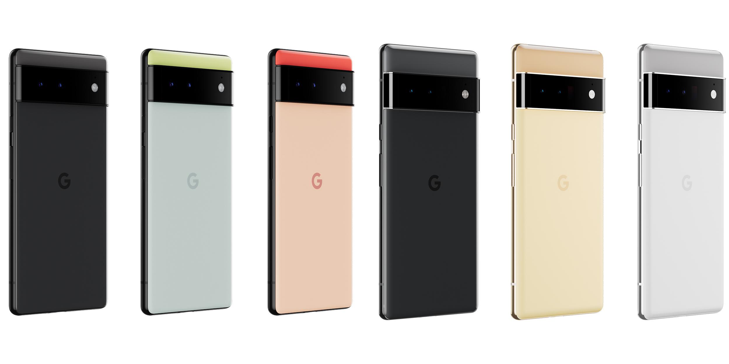 цвета Pixel 6 и 6 Pro